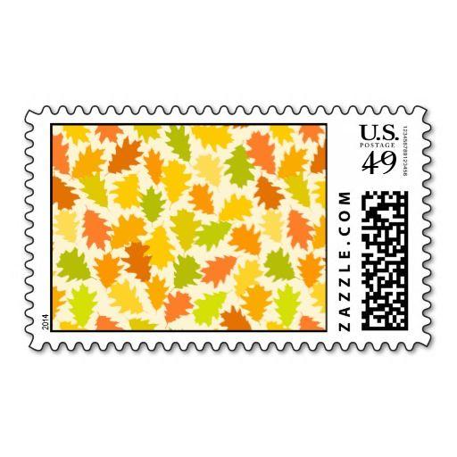 Oak tree autumn leaves postage stamps  #postage #stamp #stamps #zazzle #leaves #floral #leaf #nature
