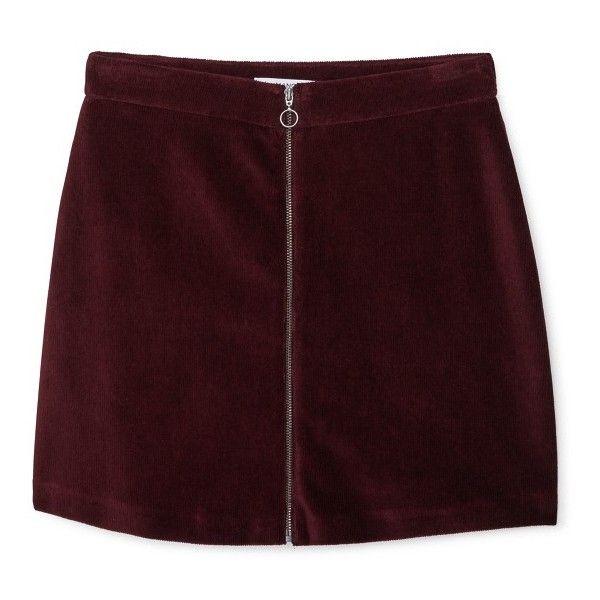 Zipped Cotton Skirt (55 BRL) ❤ liked on Polyvore featuring skirts, mini skirts, bottoms, clothes - skirts, faldas, mango skirts, brown cotton skirt, zip skirt, cotton skirts and zipper skirt