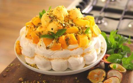 Tropical Pavlova Recipe by Siba Mtongana : Food Network UK