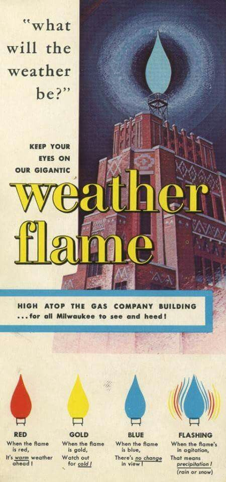 Superior Milwaukee Weather Flame Building. Love It! Growing Up I Could See This From  Our