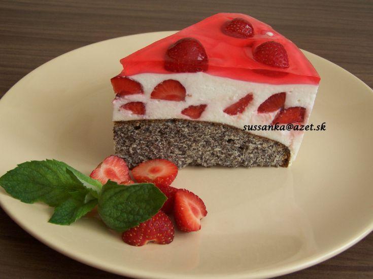 Makovo-smotanová torta