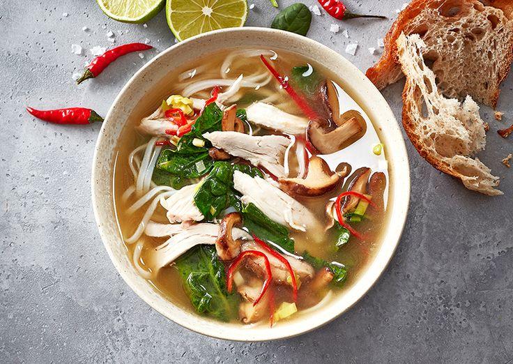 Thailandsk kyllingesuppe