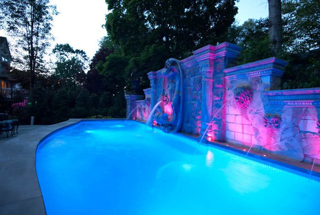 1000 Images About Cool Pool Lighting On Pinterest