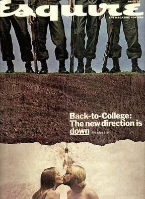 Esquire against war cover