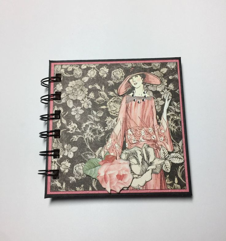 Vintage Lady Post it Note Holder, Wire bound by InACreativeTizzy on Etsy