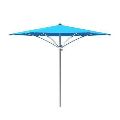 Tropitone Trace 8' Market Umbrella Fabric Color: Sparkling Water, Frame Finish: Parchment