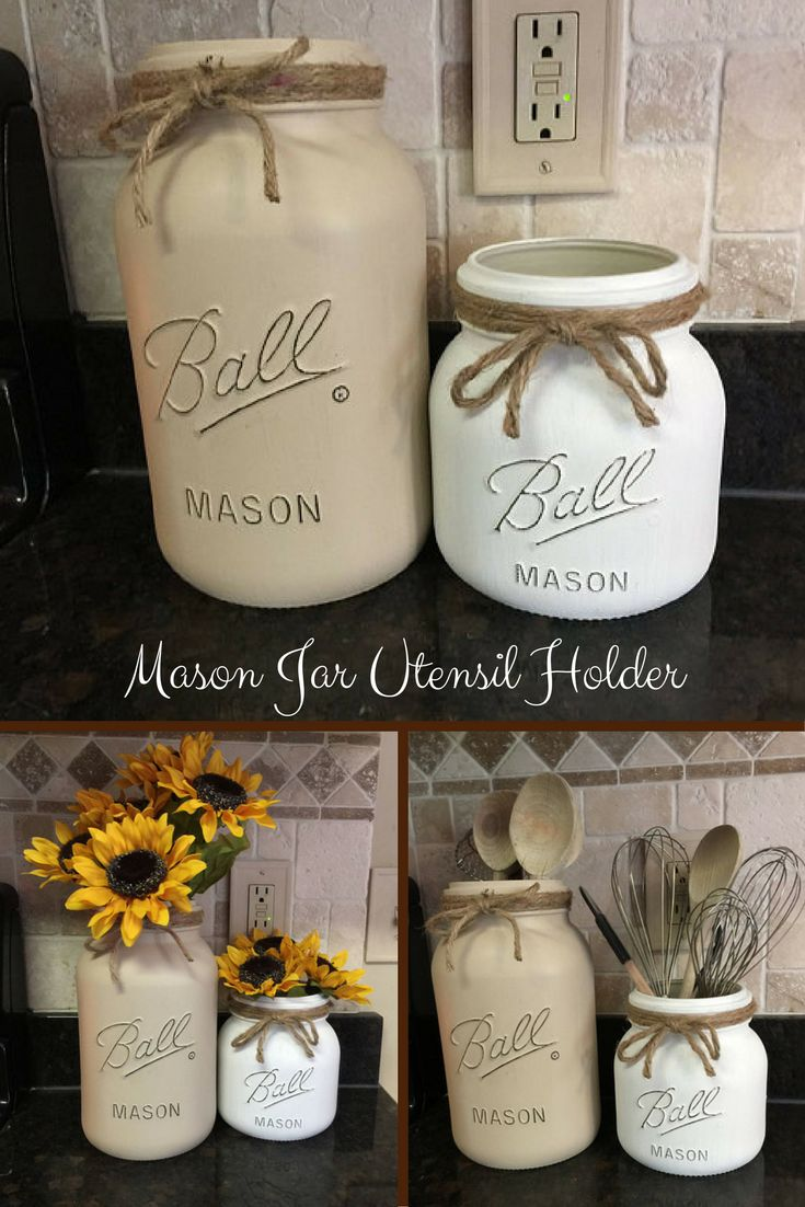 best 25+ mason jar kitchen decor ideas on pinterest | mason jar