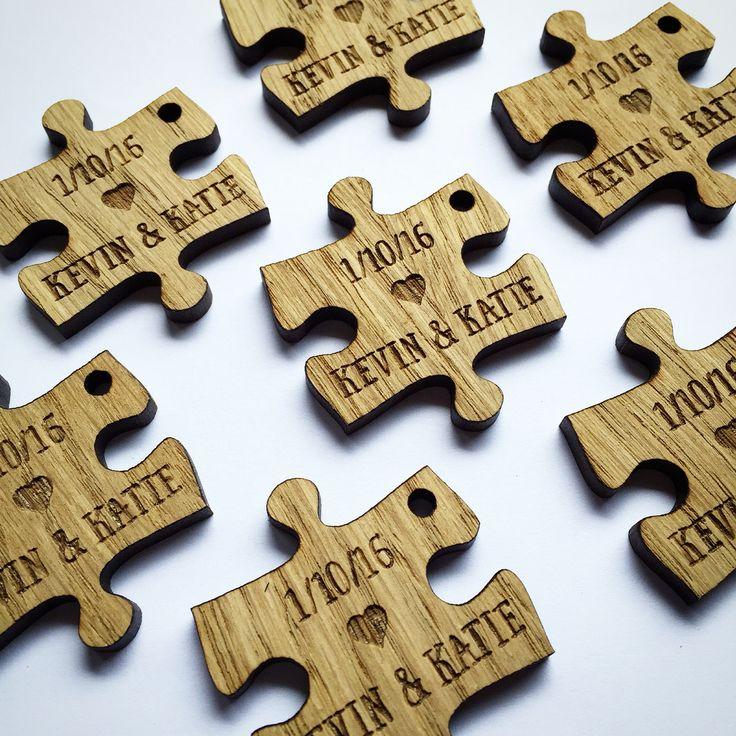 Custom Wedding Favors Puzzle Piece Decor Decorations Pieces Table 11td