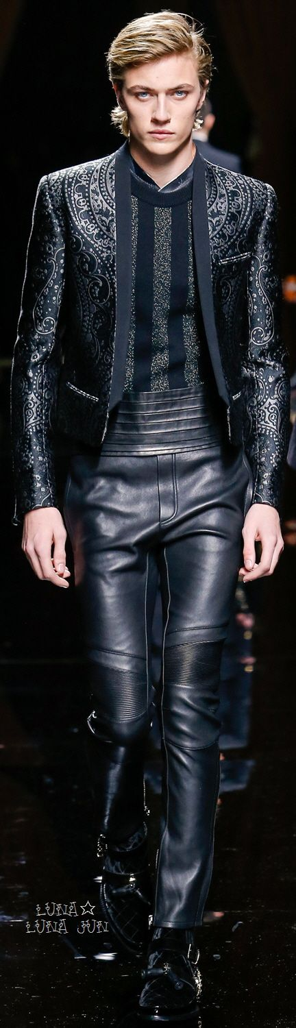 Finally Olivier Rousteing does something worthwhile! This look by Balmain is everything.
