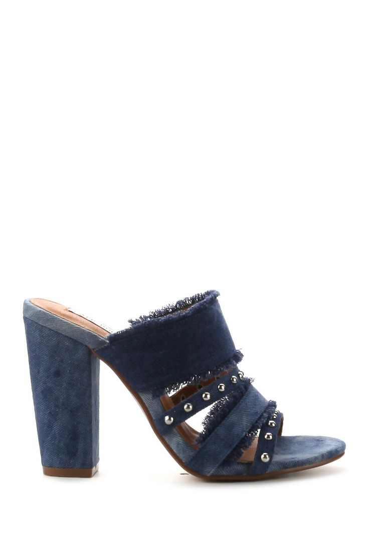 Cape Robbin - Lisa Frayed Denim Heel is now 38% off. Free Shipping on orders over $100.