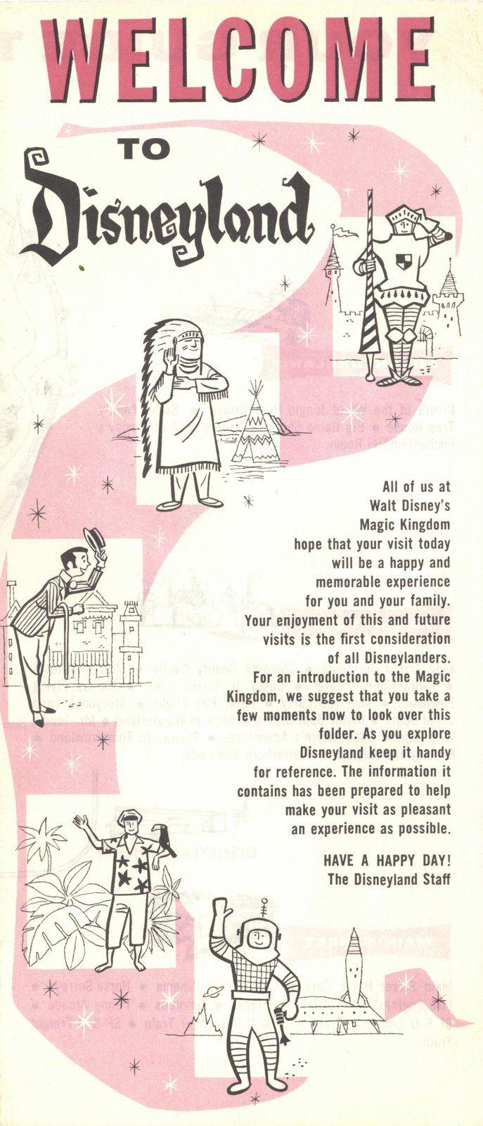 Disneyland brochure, 1963.