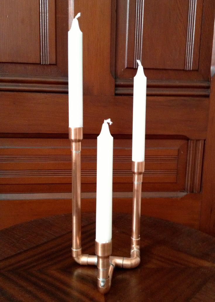 castiçal em cobre para três velas Fabricado no Brasil por…