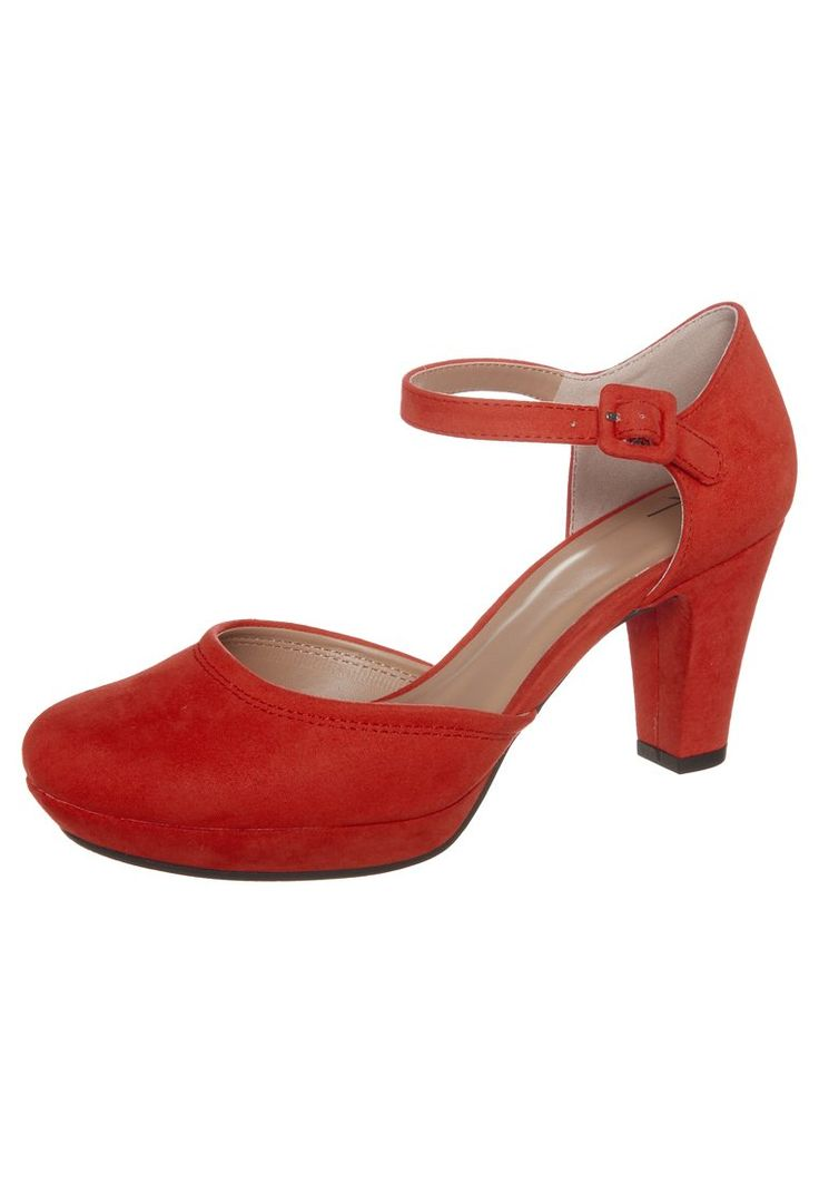Anna Field - Platåpumps - red
