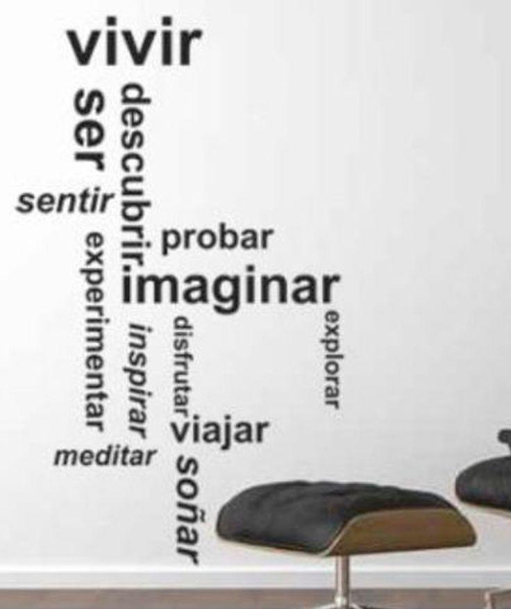 M s de 1000 ideas sobre paredes de palabras en pinterest - Letras vinilo pared ...