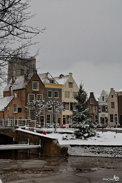 Christmas in Goedereede, South Holland, Netherlands