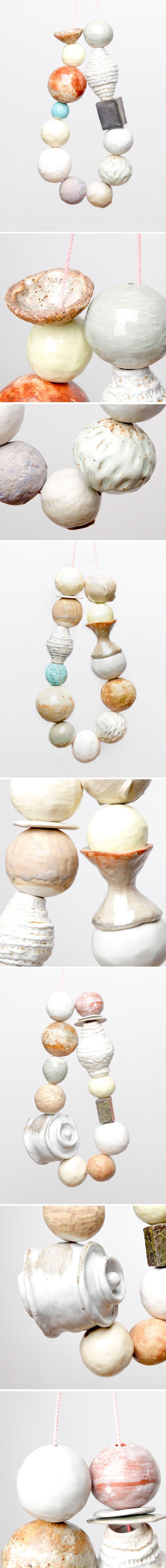 3foot cermaic necklace by Katy Krantz