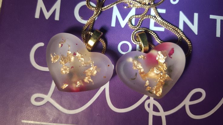 Eco resin, real flowers, only pendant, with real 24 ct gold leaf inside, handmade, bespoke, unique, without necklace chain, Christmas sale by LovelyOxford on Etsy