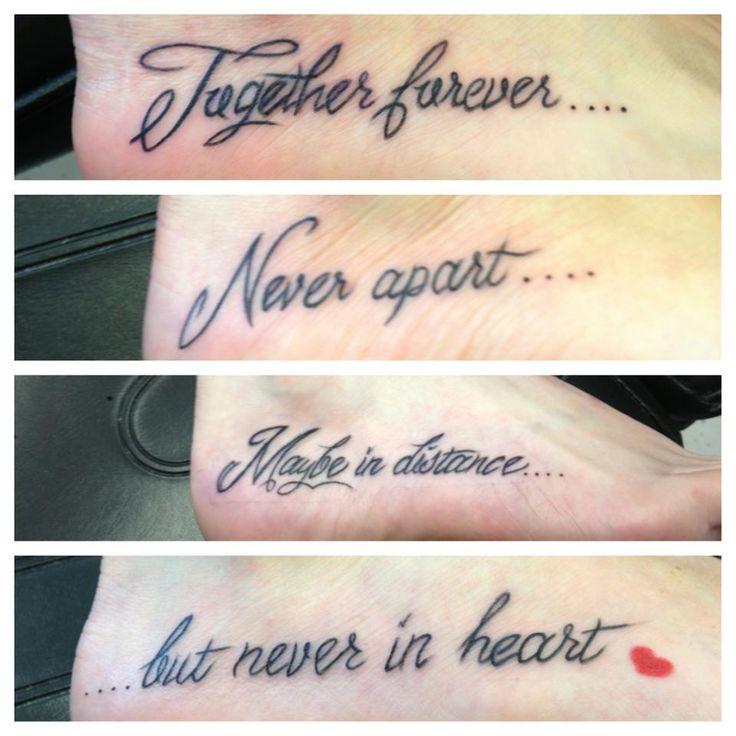 Sister tattoo-I call Never apart! @Holly Elkins Elkins Parker @Hillary Platt Bandley Platt Bandley (Parker) Sicking