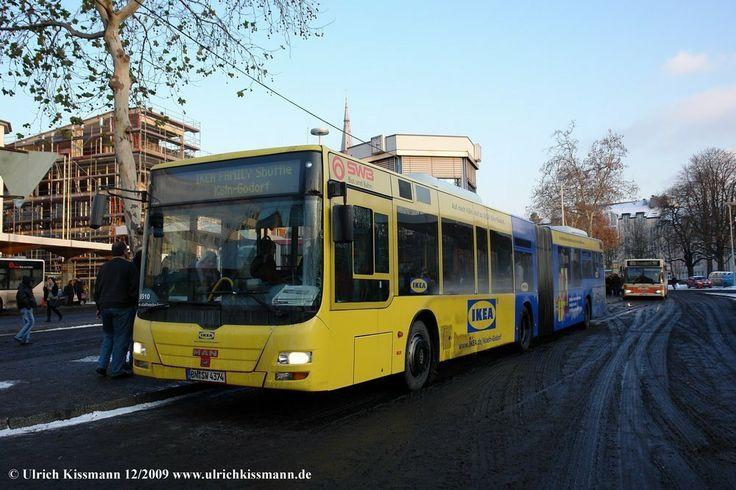 """0510 Bonn Hbf 19.12.2009 - diese Werbung gab es nur vor Weihnachten für den """"Ikea-Shuttle"""" von Bonn nach Godorf"""
