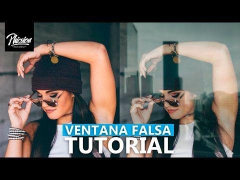 Efecto ventana falsa en photoshop  I Efectos para fotos - YouTube