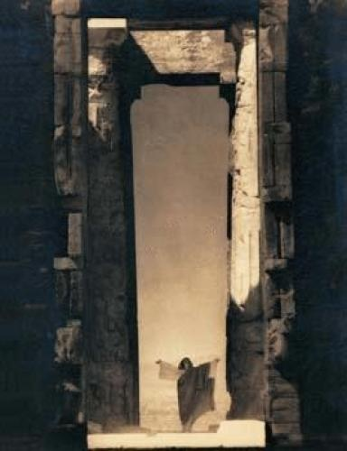Isadora Duncan at the portal of the Parthenon, 1921. Photograph by Edward J. Steichen