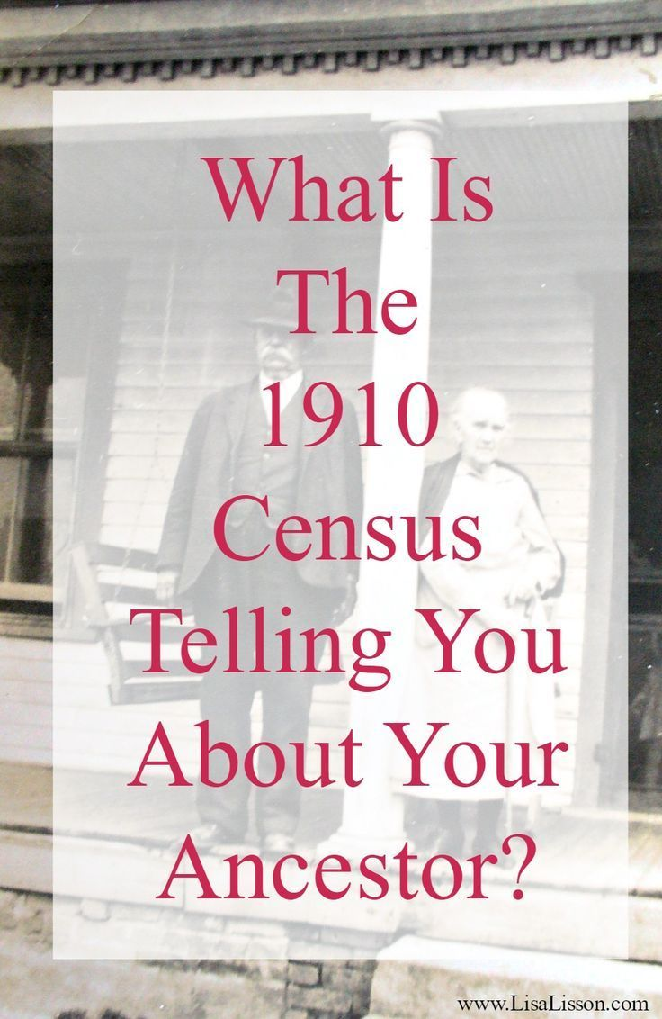 Today we are going to take a closer look at the 1910 census record and I'll share with you some of my favorite bits. But here is the important thing I want you to remember: Look beyond the names and dates of birth. What are all of those other columns of information telling you? The PROCESS of analyzing the 1910 census is the same for censuses of other years. Now, let's get into my favorite parts of the 1910 census year!