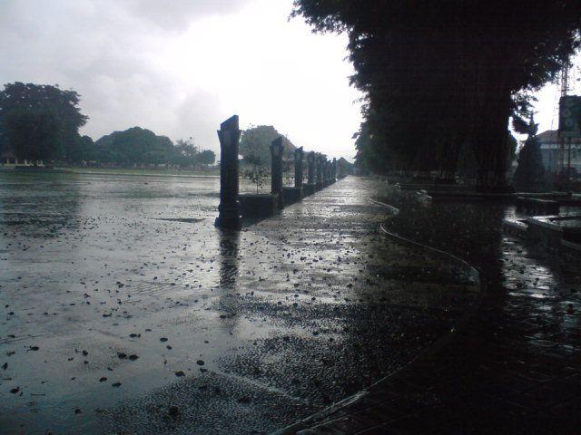Alun alun wonosobo waktu hujan...