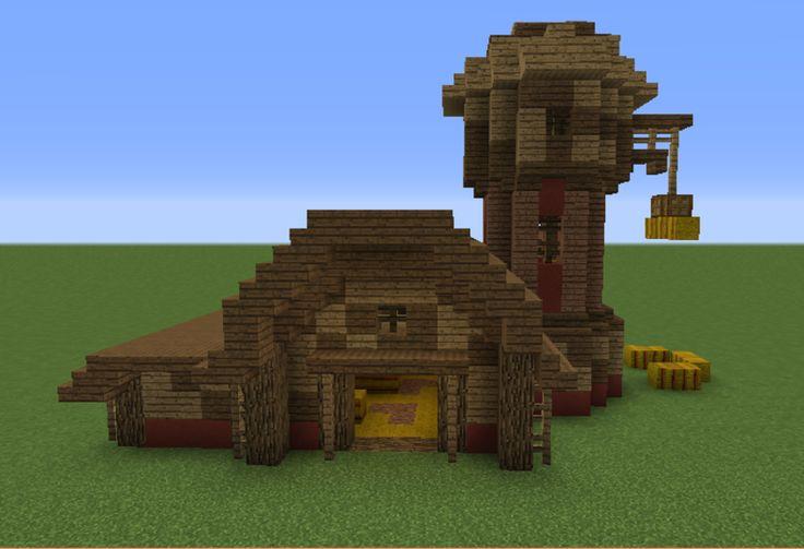 Pin by Caitlin Stewart on Minecraft   Minecraft barn ...