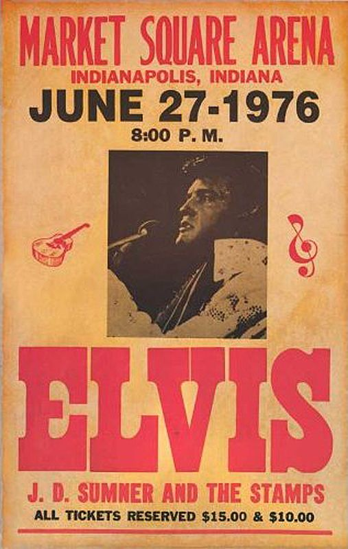 1976 Elvis Presley Concert Poster- I do believe this is the VERY last concert Elvis performed before his death.