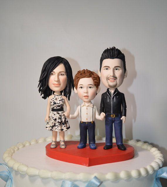 Wedding Cake Topper Handmade Customized Cake Topper Polymer Clay Cake Decorate Funny 3D Cartoon Figurines on Etsy, $158.00