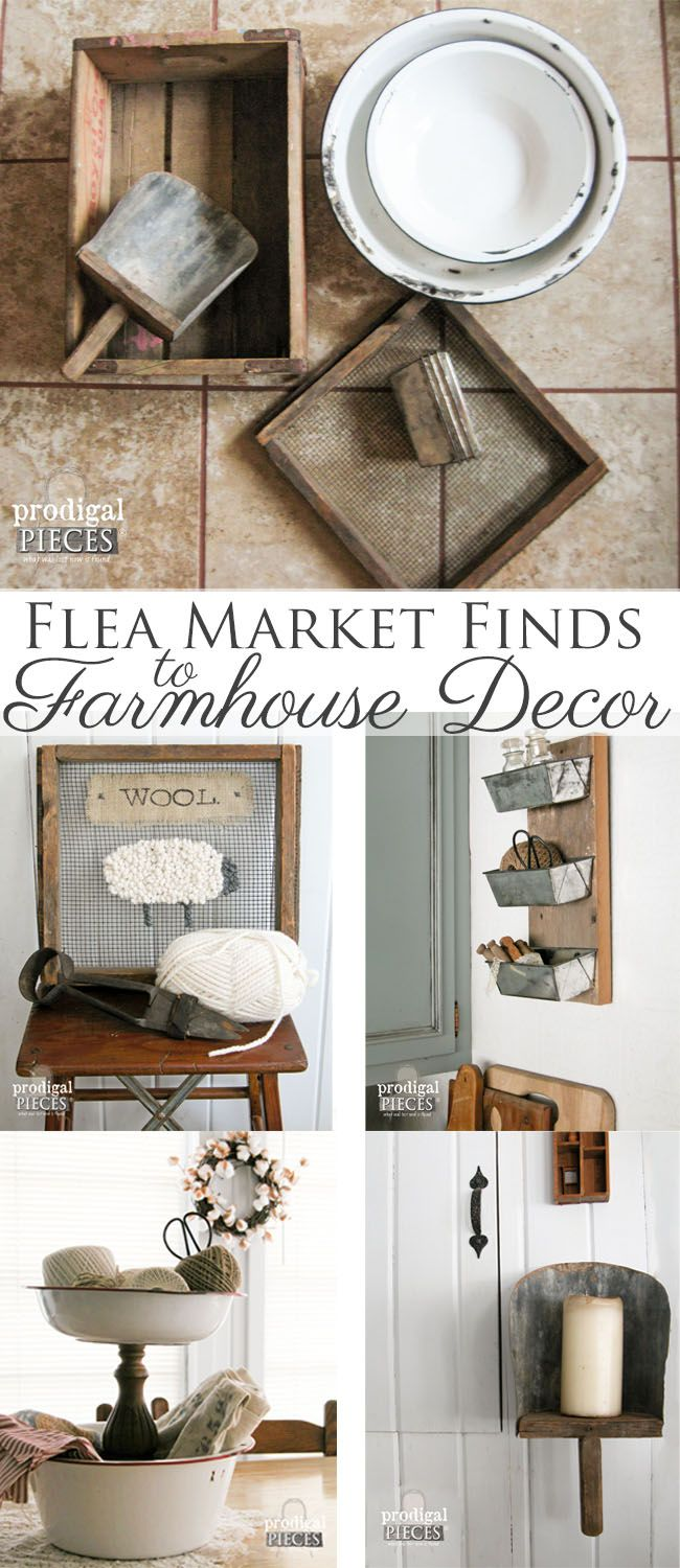Country decorating ideas flea market style - Farmhouse Decor From Repurposed Flea Market Finds