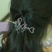 Простые Металлические Витой Заколки Для Волос Вилка Долго Pin Придерживайтесь Женщины Ювелирные Изделия Волос HG412(China (Mainland))