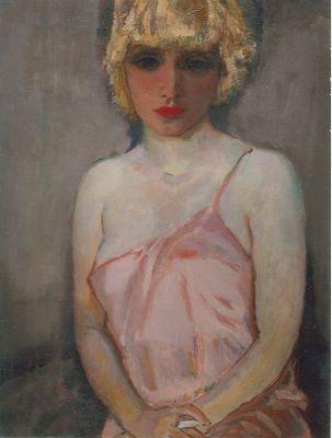 J.C.B. Sluijters Johannes Carolus Bernardus 'Jan' Sluijters Den Bosch 1881-1957 Amsterdam Jonge vrouw met sigaret, olie op doek 79,5 x 61 cm...