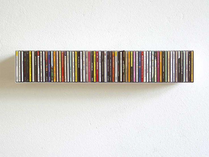 CD-Regal Linea 1 Stahlblech, weiß pulverbeschichtet; für 67 CDs