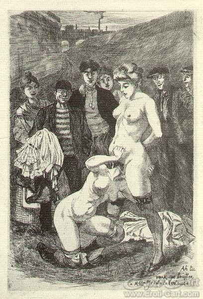 "La Grande Danse Macabre des Vifs - 27 : Erotic illustration by Martin Van Maele from ""La Grande Danse Macabre des Vifs"" first published in 1905."