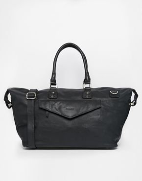 Sandqvist Leather Holdall Bag