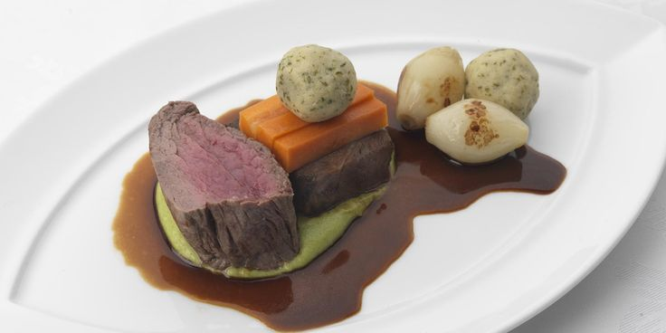 Scottish beef is prepared two ways in Phil Carnegie's impressive beef fillet recipe. Marrow dumplings add a special accent to this awe-inspiring beef meal.