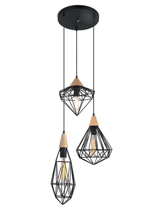 Lampa wisząca MAELLE Italux MDM-2591/3 BK - Cudowne Lampy