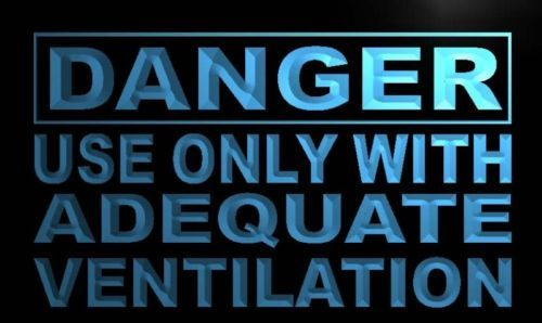 Danger Use only Adequate Ventilation Neon Sign