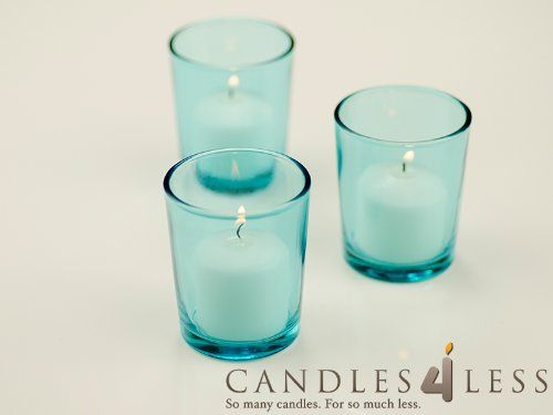 72 Pieces Turquoise Glass Votive Candle Holders + 72 Pieces Ivory Votive Candles, Turquoise Candles4Less,http://www.amazon.com/dp/B004H6L5AW/ref=cm_sw_r_pi_dp_NhTAtb1BGGJYEPV6