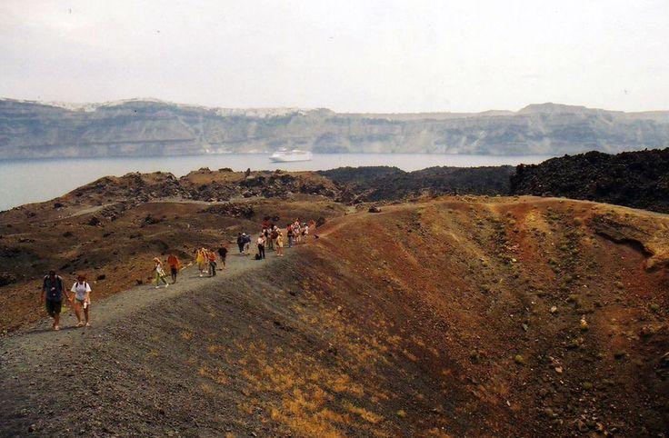 Walk volcanic land