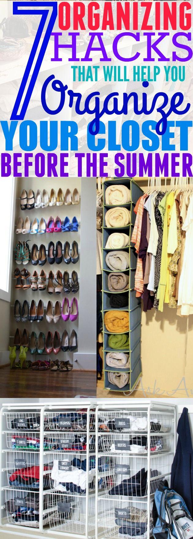 7 Life Changing Ways To Organize Your Closet. Bedroom  OrganizationOrganization StationOrganization IdeasStorage ... Part 91