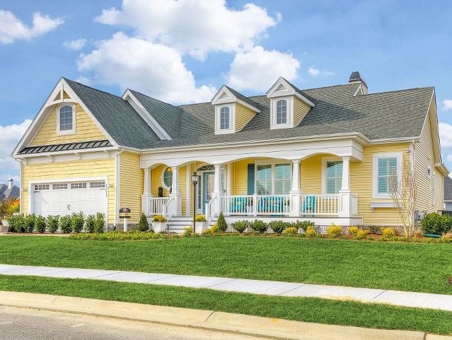 783 best home exterior paint color images on pinterest for Best yellow exterior paint color