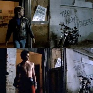 1985's Tuff Turf Predicted The Avengers Casting of Robert Downey Jr. and James Spader -- The pair first starred together in this 1985 cult masterpiece, which finds a cleverly placed bit of graffiti prophesizing their reunion in 2015. -- http://wtch.it/kWE92