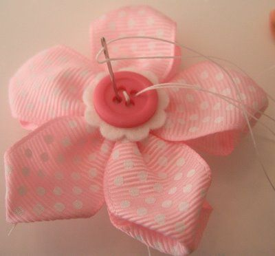 Pink Ribbon Flower
