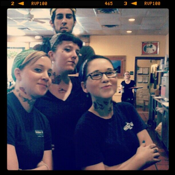 Some of our servers at Kerbey UT hard muggin'.