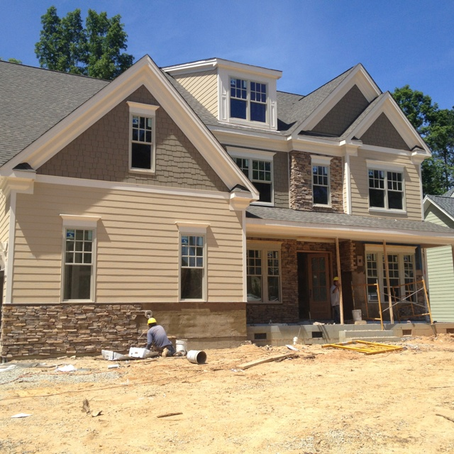 Exterior: Exterior Stone Work In Progress