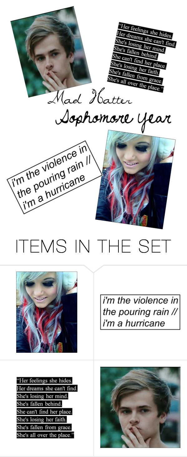 """""""Mad Hatter (Sophomore Year)"""" by kayla-iz-here on Polyvore featuring art"""