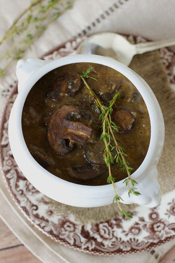 Mushroom soup. Ricetta con i fagioli (ma si puo' fare anche senza).