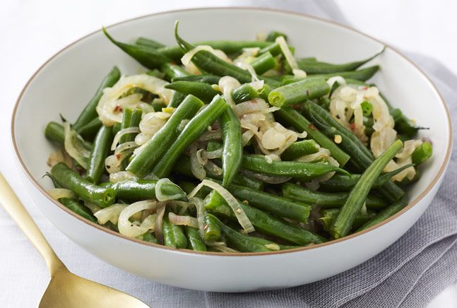 Green Bean and Three Onion SauteOnions Saute, Side, Veggies Food, Beans Three, Green Beans, Breads Onions, Cooking, Mr. Beans, Three Onions